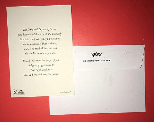 A mensagem de agradecimento enviada por Meghan Markle e seu marido, o Príncipe Harry (Foto: Instagram)