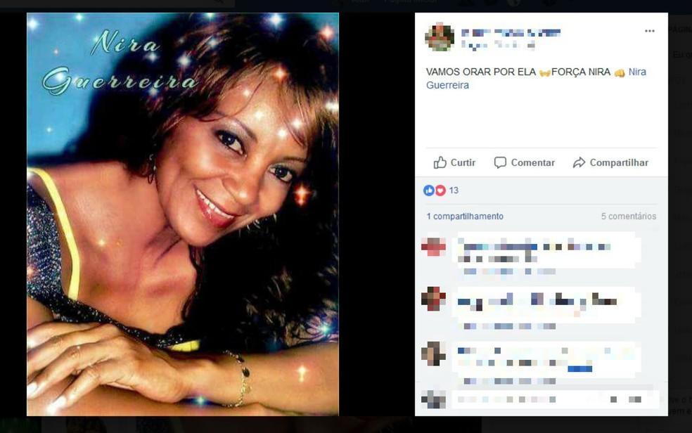 Fãs deixaram mensagens de apoio à cantora nas redes sociais (Foto: Reprodução/Facebook)