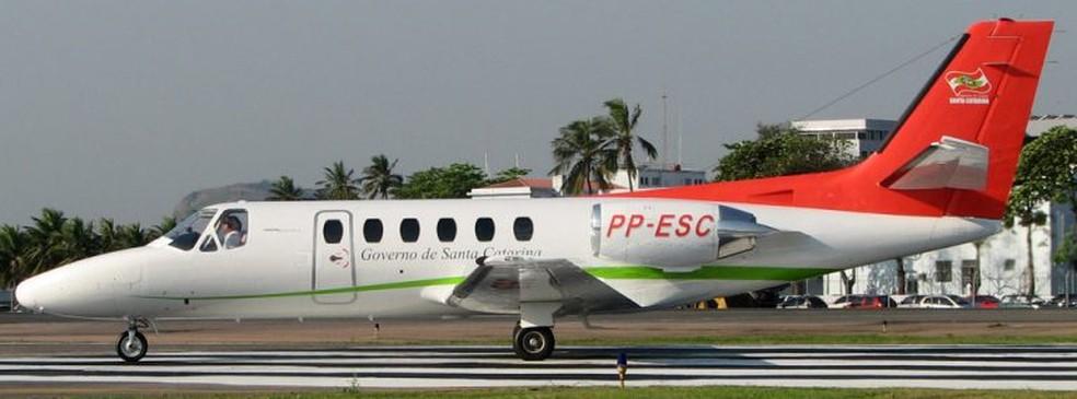 Citation (PP-ESC) também deve ser colocado à venda — Foto: Secretaria Executiva da Casa Militar/Divulgação