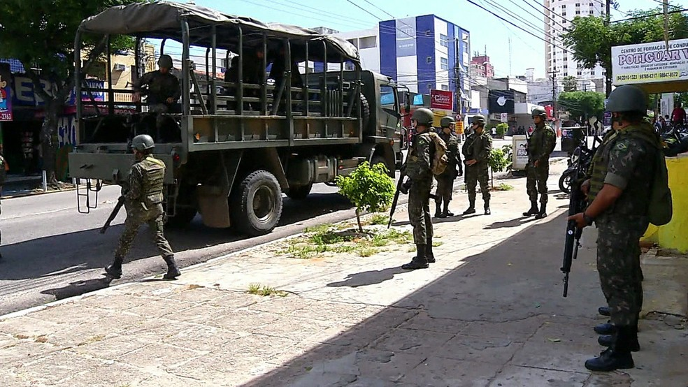 Forças Armadas estão no RN desde o dia 30 de dezembro reforçando o patrulhamento (Foto: Reprodução/GloboNews)