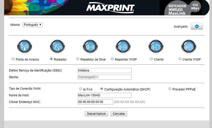 MaxLink 150AD (Foto: Reprodução/Yuri Hildebrand)