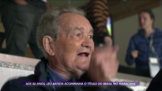 Dia inesquecível: aos 86 anos, Leo Batista cobre a sua 1ª final de Copa América e narra até gol