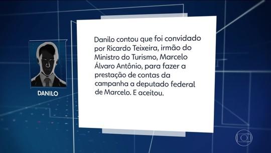 Contador de candidatas suspeitasdiz que trabalhoua pedido de irmão doministrodo Turismo