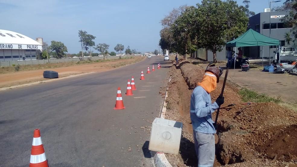 Faixa de pedestres também será instalada no local — Foto: Divulgação/Prefeitura de Palmas