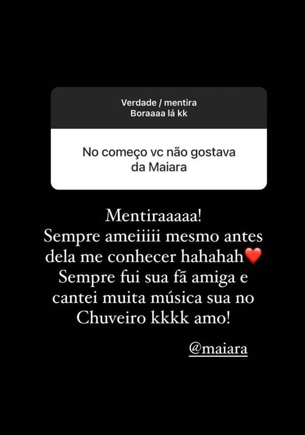 Biah Rodrigues nega qualquer conflito com Maiara (Foto: Reprodução/Instagram)