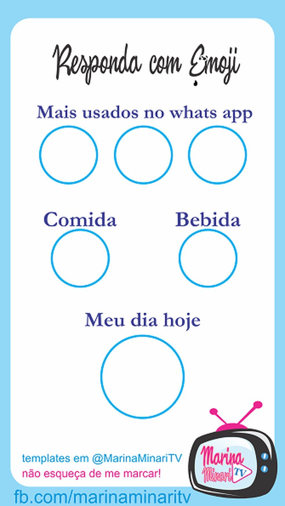 Nessa brincadeira para status de WhatsApp, as perguntas só podem ser respondidas com o uso de emojis — Foto: (Reprodução/Pinterest)