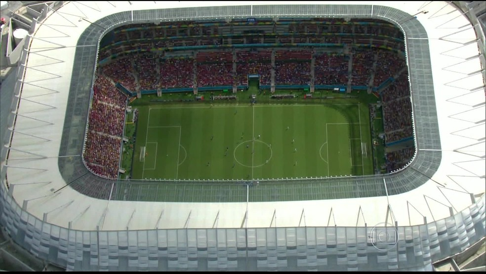 Arena de Pernambuco fica em São Lourenço da Mata, no Grande Recife — Foto: Reprodução/GloboNews