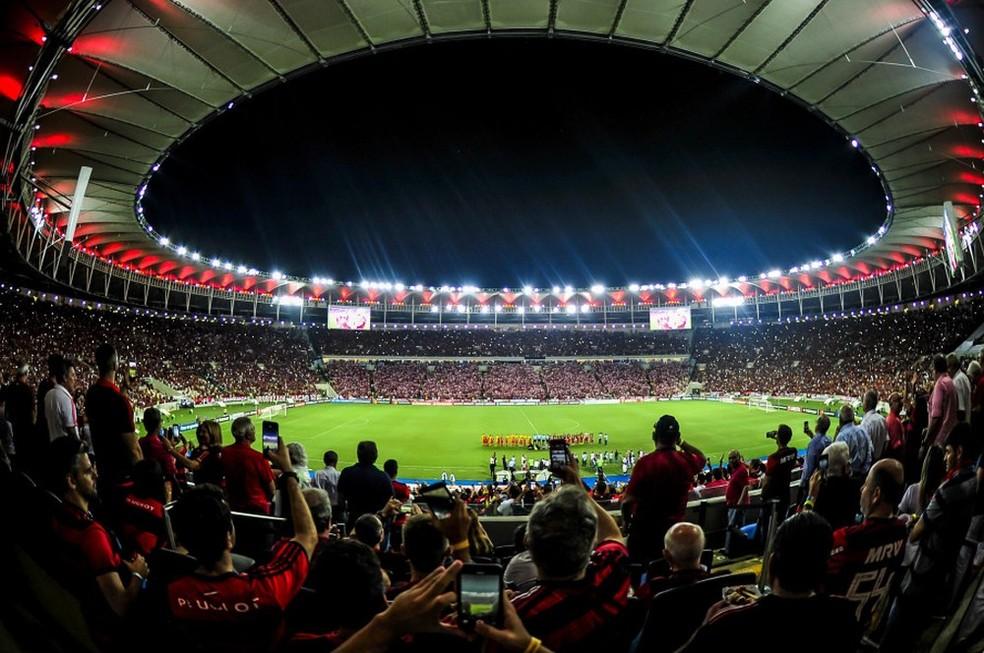Flamengo teve lucro de R$ 2 milhões no 1º trimestre no Maracanã. Expectativa é que receita aumente com o clube à frente do estádio — Foto: Alexandre Vidal/Flamengo