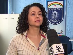 Delegada Jimena Gouveia prendeu suspeito de estupro (Foto: Reprodução/TV Asa Branca)