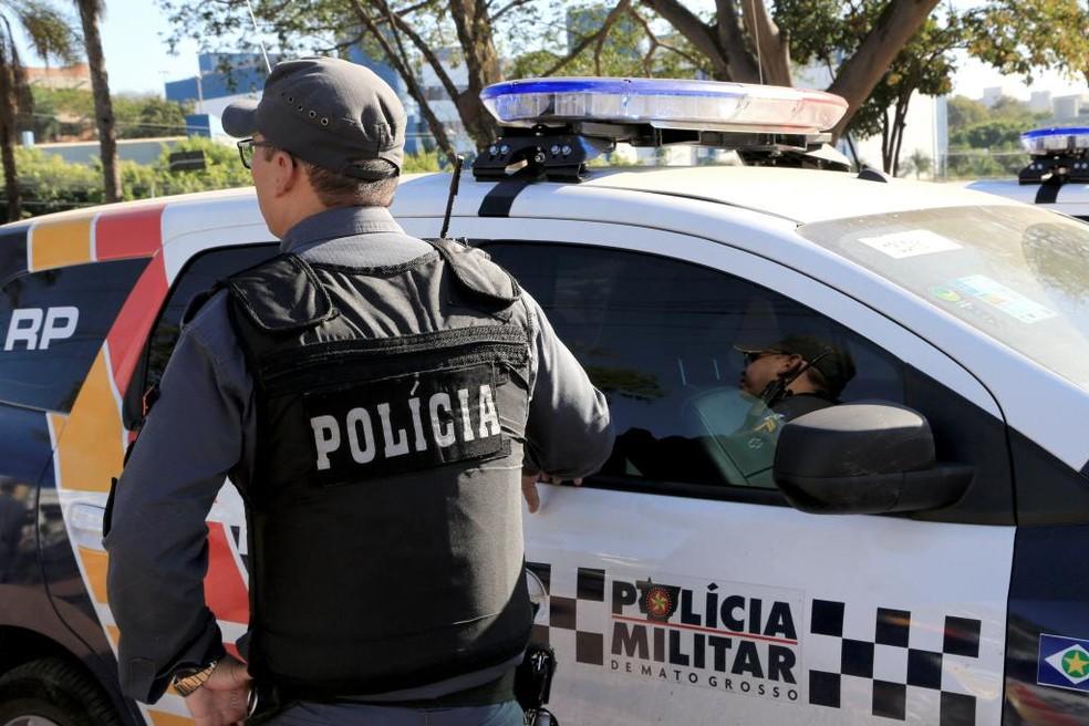 Polícia Militar está atuando com frota reduzida — Foto: PM-MT/Assessoria