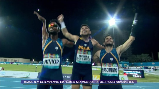 O Brasil termina em 2º lugar no Mundial de Atletismo Paralímpico.