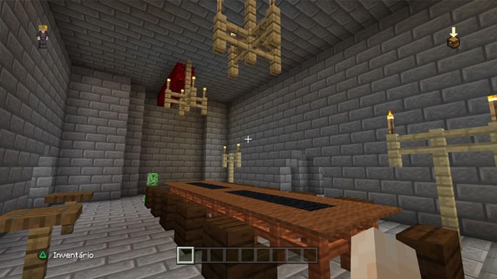 Cercas também podem ser utilizadas para a decoração em Minecraft — Foto: Reprodução/Rafael Monteiro