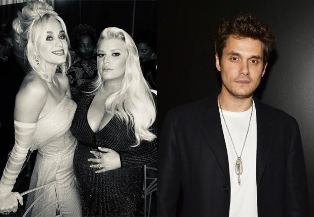 Ex-namoradas de John Mayer, Katy Perry e Jessica Simpson posam durante evento (Foto: Reprodução/Instagram e Getty Images)
