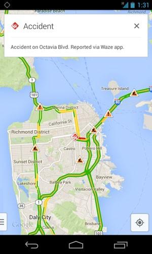 Integrado com o Waze, aplicativo do Google Maps começa a exibir acidentes de trânsito e interdição nas vias em tempo real. (Foto: Divulgação)