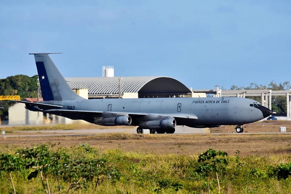 Força Aérea Chilena também participa dos exercícios  — Foto: Pedro Vitorino