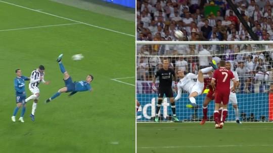 De bicicleta! Veja a semelhança dos gols de CR7 e Bale na Liga dos Campeões