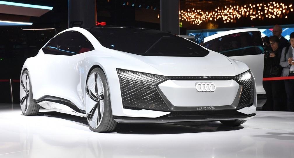 Audi Aicon Concept não tem volante, nem pedal (Foto: AP Photo/Martin Meissner)