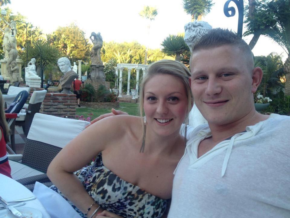 Shaun e Jenna, antes do voo a Ibiza