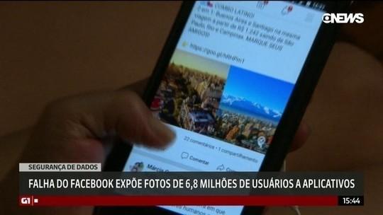 Nova falha do Facebook expõe fotos de 6,8 milhões de usuários a aplicativos