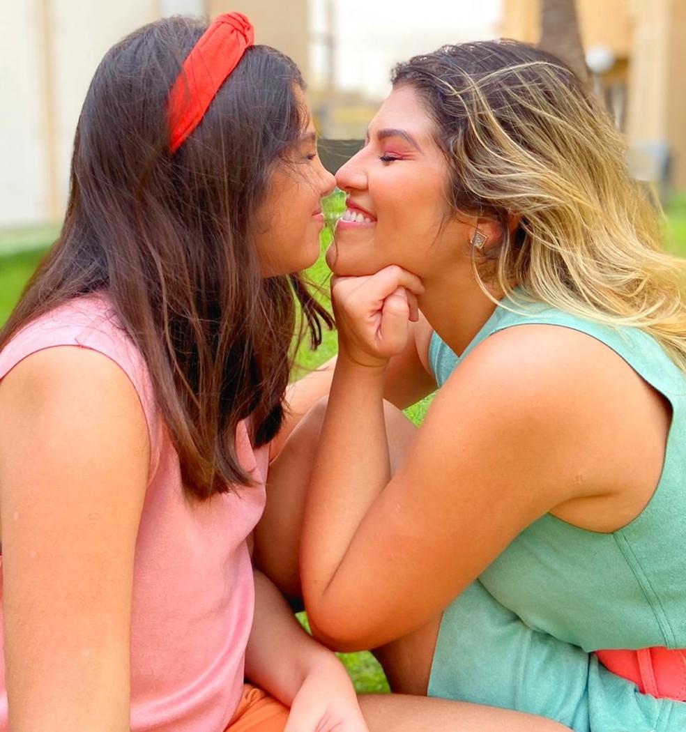 Jéssica e a filha Maria Eduarda — Foto: Cedida