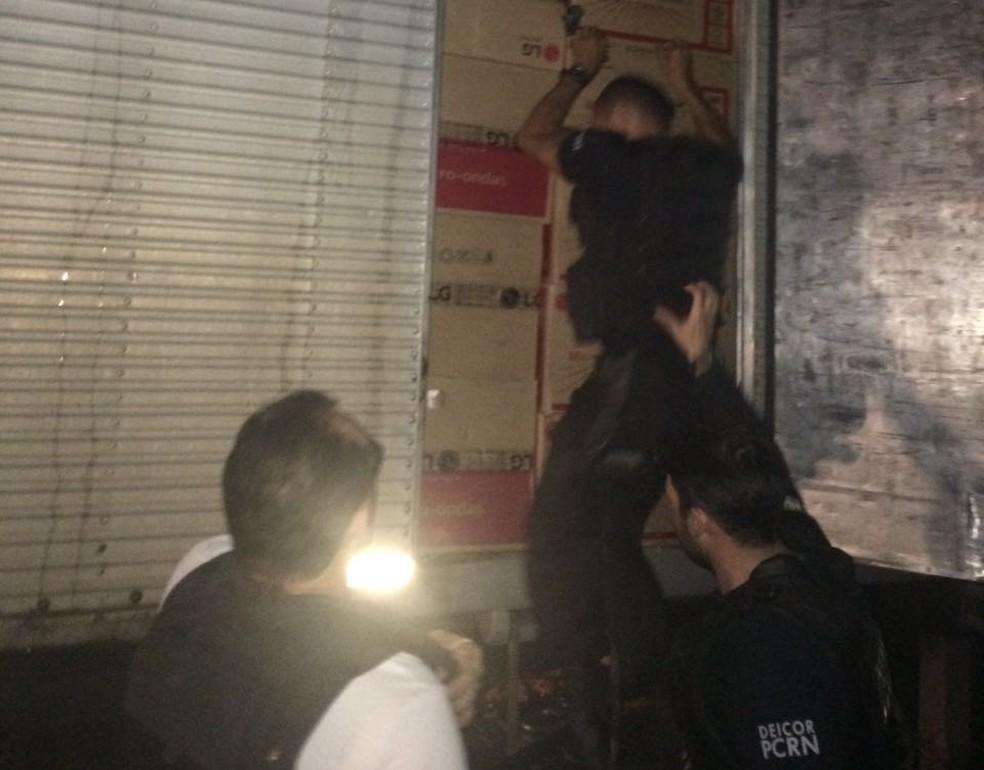 Carga foi apreendida na Grande Natal (Foto: Divulgação/Polícia Civil)