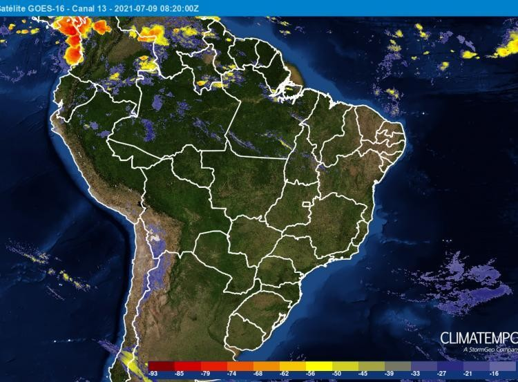 tempo-mapa-climatempo-0907 (Foto: Climatempo)