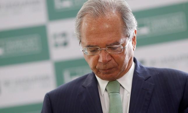 Paulo Guedes: pesquisa mostra que houve queda na confiança dos consumidores na economia nacional