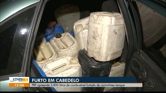 Cerca de 3,8 mil litros de combustível furtados são apreendidos, em Cabedelo, PB