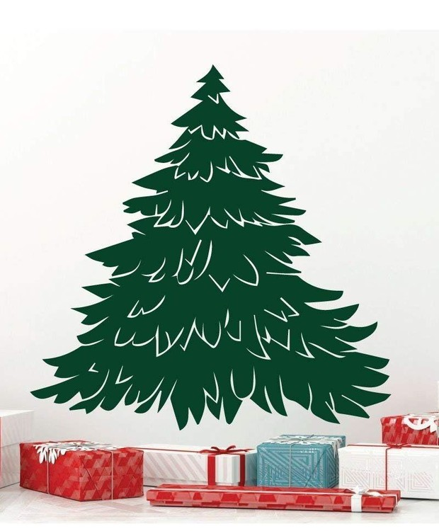 Árvore de adesivo (Foto: ElleDecor/ Reprodução)