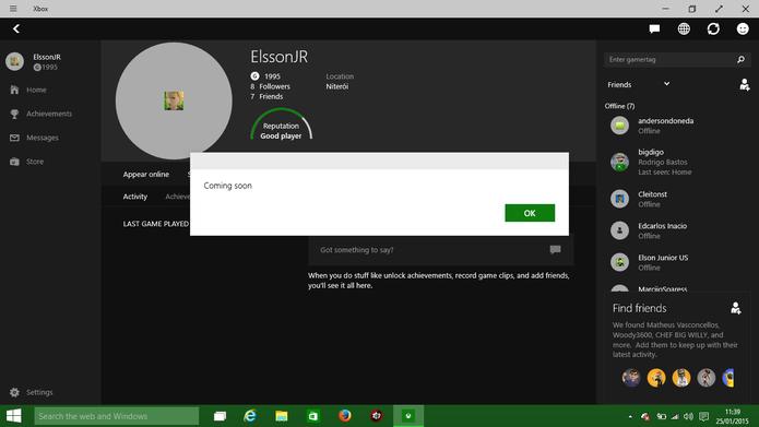 Windows 10 é um sistema de testes e ainda possui diversos recursos indisponíveis (Foto: Reprodução/Elson de Souza)
