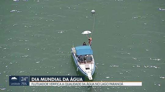 DF1 mostra flutuador que mede qualidade do Lago Paranoá