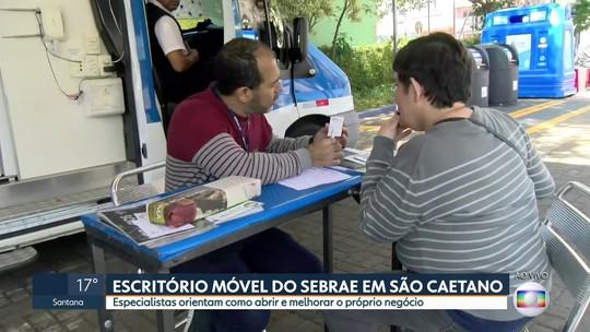 Escritório móvel do Sebrae está em São Caetano
