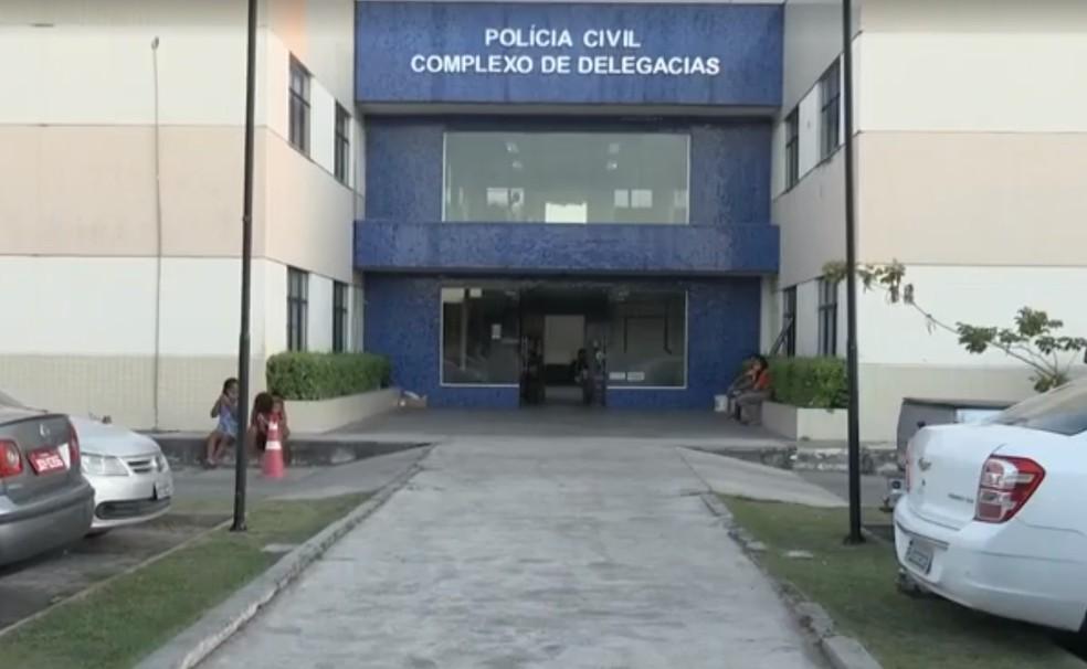 Complexo de delegacias de Feira de Santana — Foto: Reprodução/TV Subaé