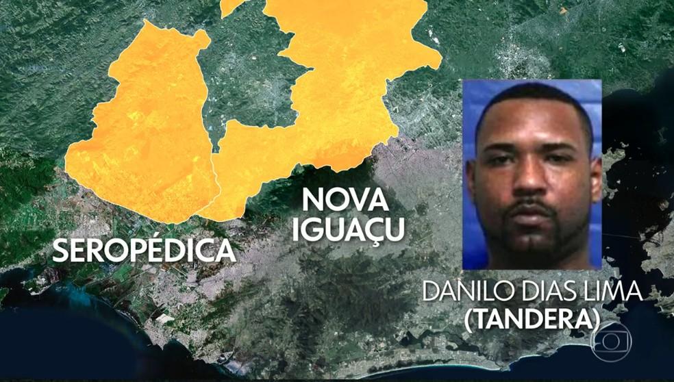 Danilo Dias Lima, o Tandera, chefia a milícia em municípios da Baixada — Foto: Reprodução