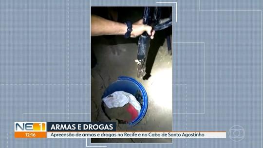 PM apreende fuzis, metralhadora, pistolas e espingardas no Grande Recife
