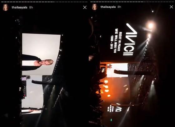 DJ Jean-Michel Jarre faz homenagem a Avicii no Coachella (Foto: Reprodução / Instagram)
