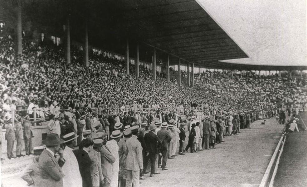 Confira imagem da inauguração de São Januário, realizada em 21 de abril de 1927 — Foto: Acervo de José do Amaral Osório