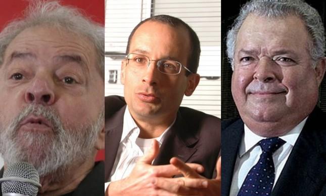 Lula, Marcelo Odebrecht e Emílio Odebrecht