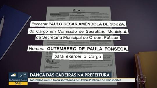 Prefeitura do Rio anuncia dança das cadeiras em secretarias
