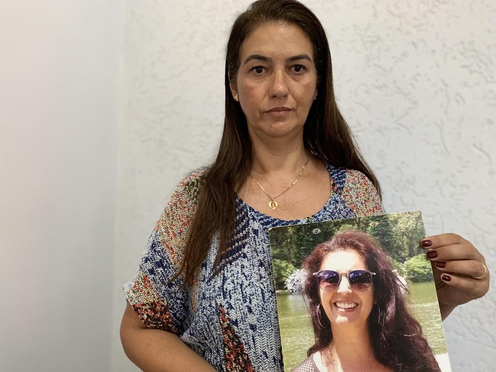 Natália de Oliveira é irmã de Lecilda de Oliveira, uma das 11 desaparecidas na tragédia da Vale — Foto: Raquel Freitas/G1