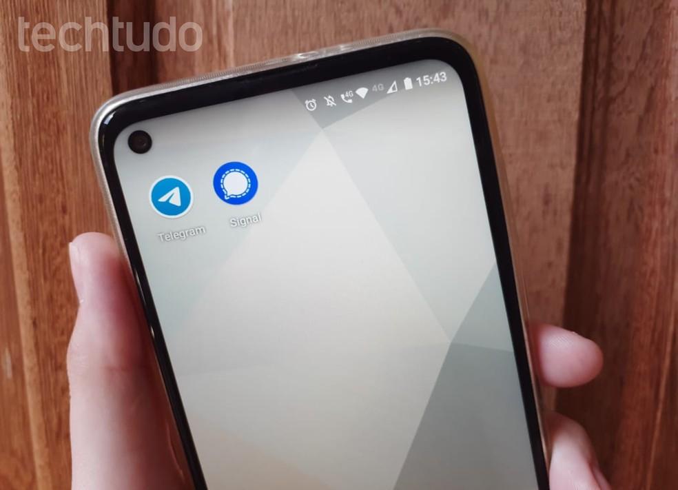 WhatsApp caiu: Signal e Telegram são alternativas ao mensageiro — Foto: Clara Fabro/TechTudo