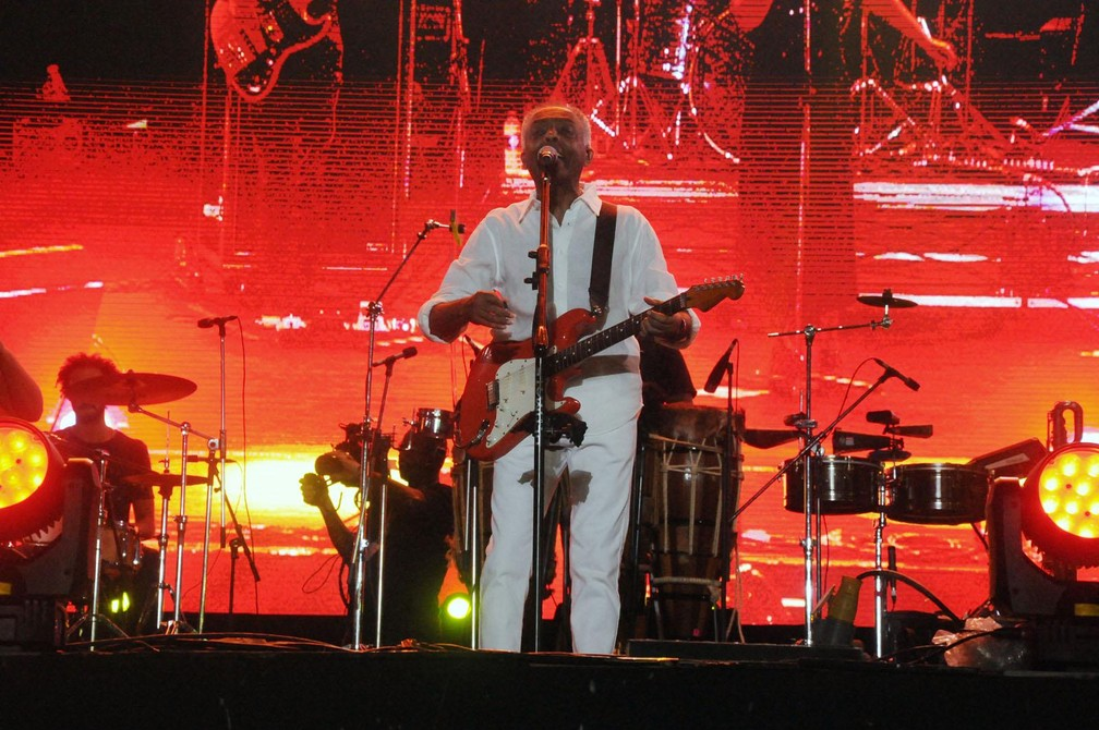8fc0ae3550 Gilberto Gil na primeira noite do Festival da Virada