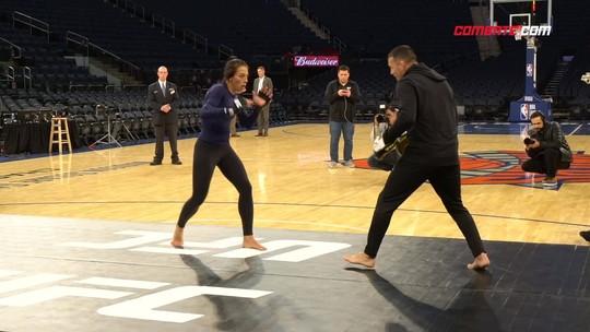 Joanna Jedrzejczyk domina o treino aberto do UFC 217; Bisping provoca fãs de GSP