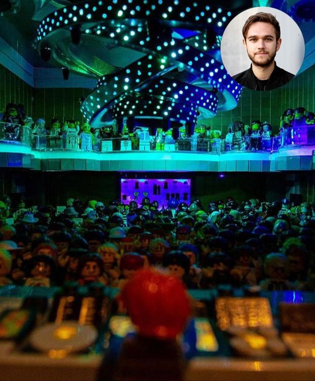 Na casa do DJ Zedd, uma instalação de arte, feita inteiramente por Legos, conta com vários espaços que reproduzem locais emblemáticos na vida e na carreira do profissional (Foto: Instagram/ Reprodução)