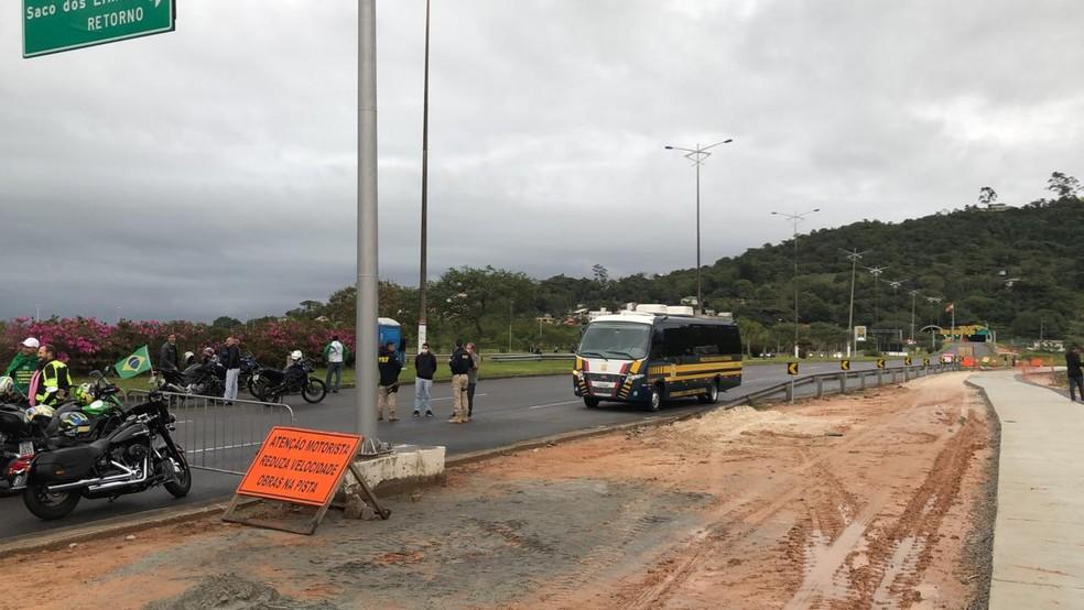 Interdições no trânsito em Florianópolis — Foto: GMF/ Divulgação