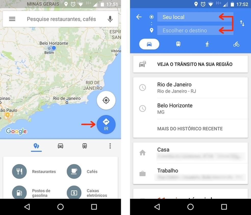 Como baixar uma rota do Google Maps para navegar offline ...
