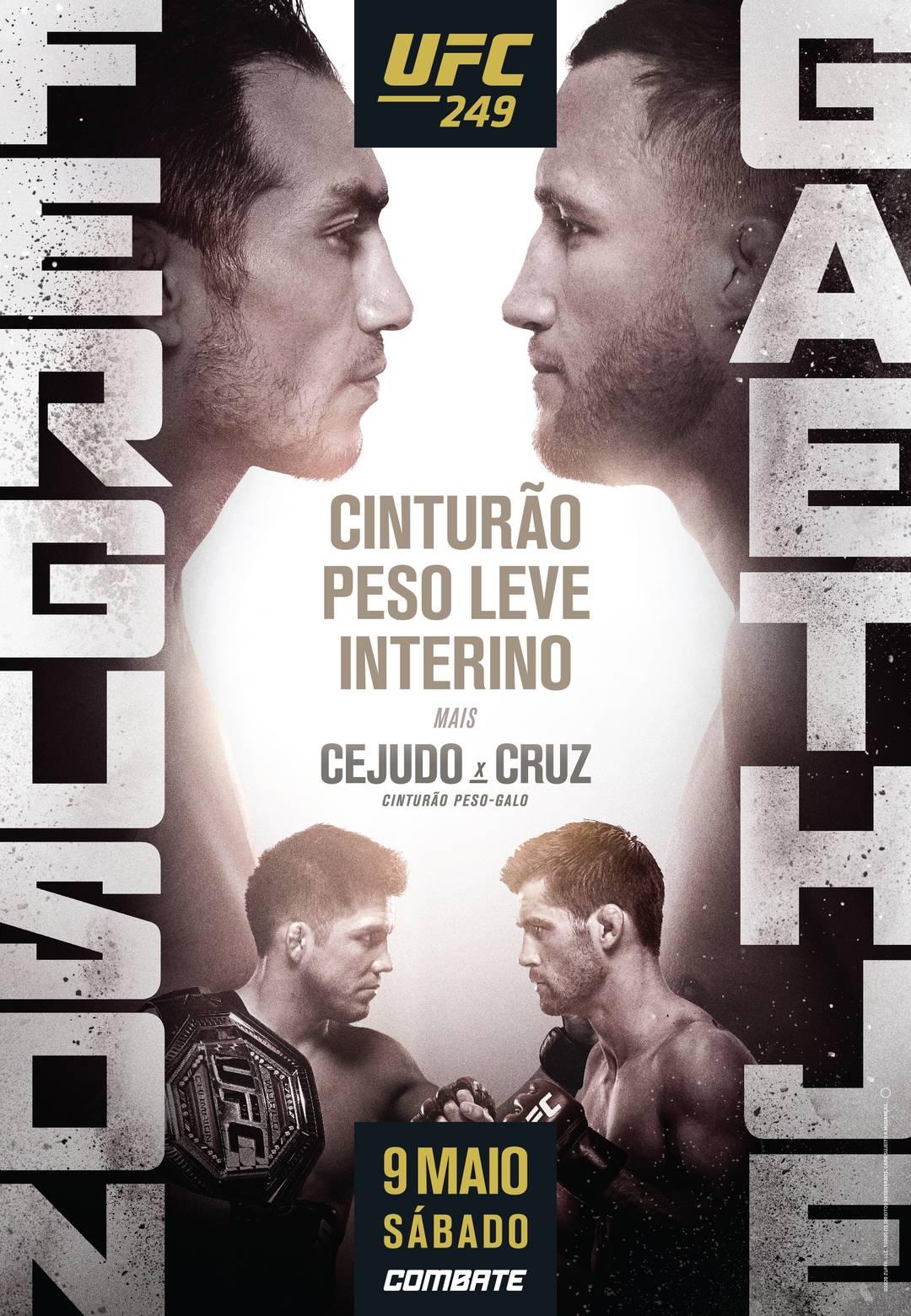 O pôster atualizado do UFC 249