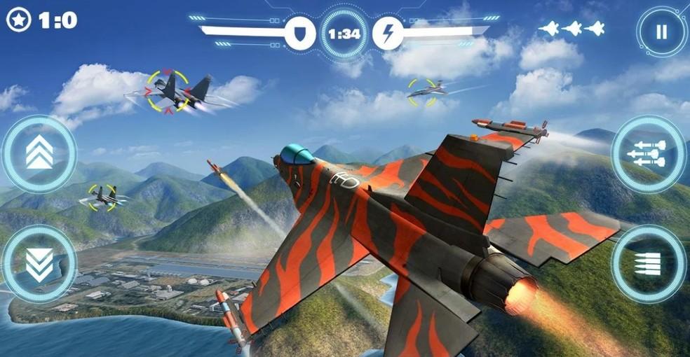 Ace Force tem uma variedade de caças para os jogadores — Foto: Divulgação/OneWorld Mobile Games