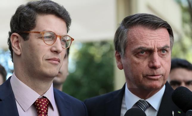 Jair Bolsonaro e Ricardo Salles no Ministério do Meio Ambiente