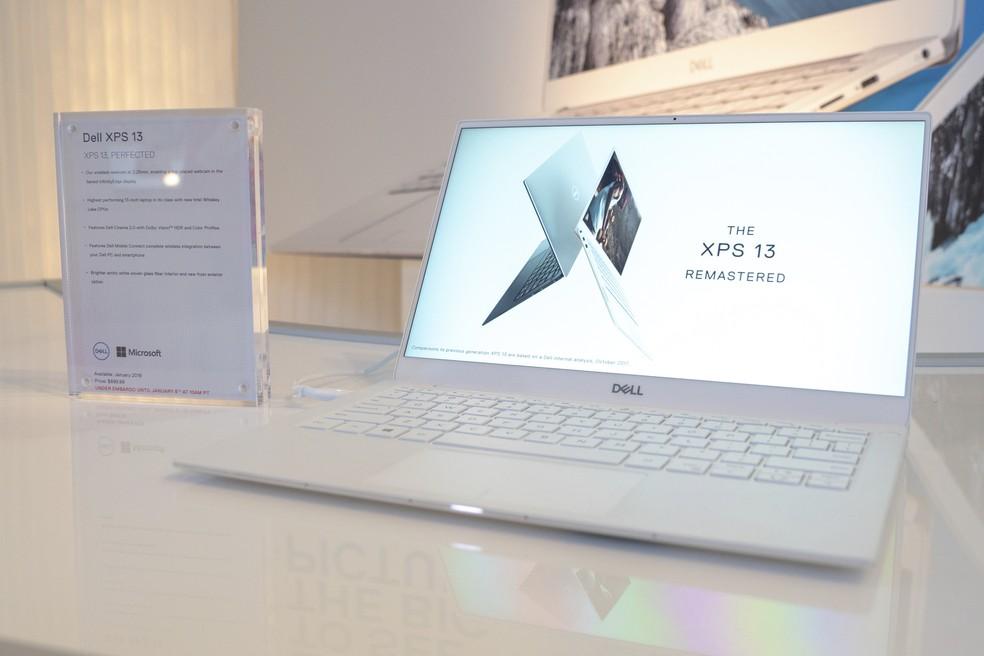 Dell XPS 13 2019 traz processadores Intel Core de décima geração — Foto: Divulgação/Dell